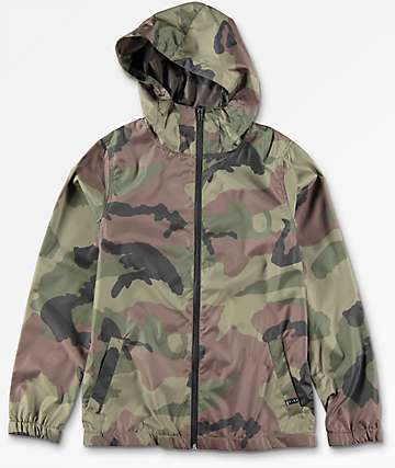 Zine Boys Training Camo Windbreaker Jacket