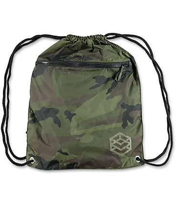 Zine Camo Cinch Bag
