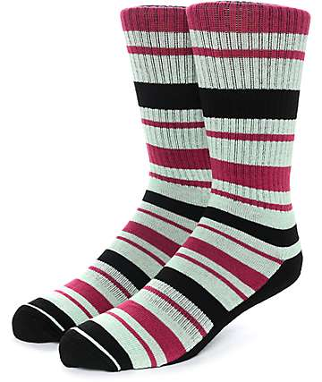 Zine Capsize Black, Lime & Raspberry Crew Socks