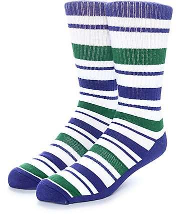 Zine Capsize calcetines en blanco, morado y verde