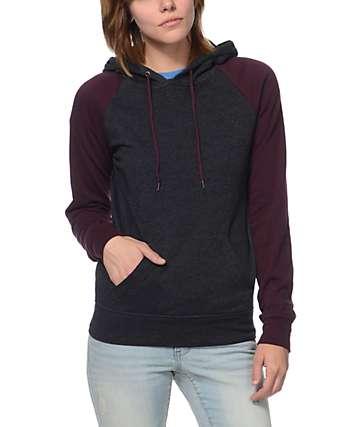 Zine Charcoal & Blackberry Pullover Hoodie