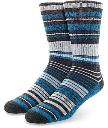 Zine Cobalt Blue Crew Socks