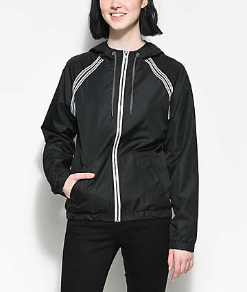 Zine Cody Lined Black Windbreaker Jacket