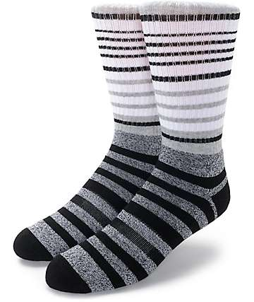 Zine Cornered Black & White Crew Socks
