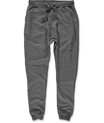 Zine Cover pantalones jogger tejidos carbón solido