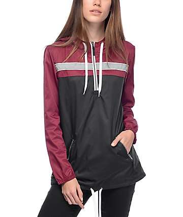 Zine Danni Burgundy & Black Anorak Jacket