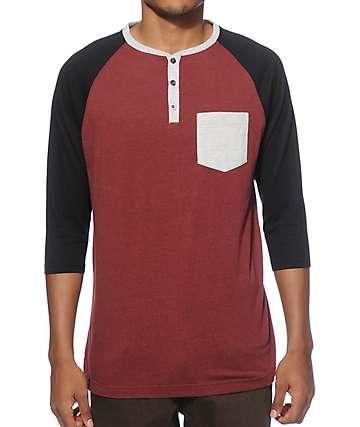 Zine Dark Magic Henley Baseball T-Shirt