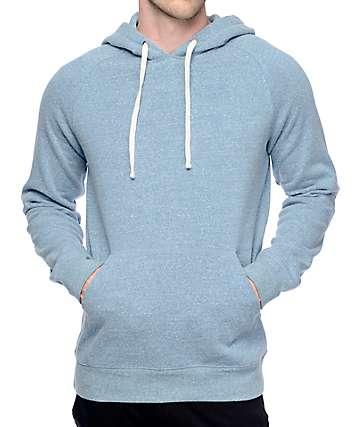 Zine Dash capucha en color azul jaspeado