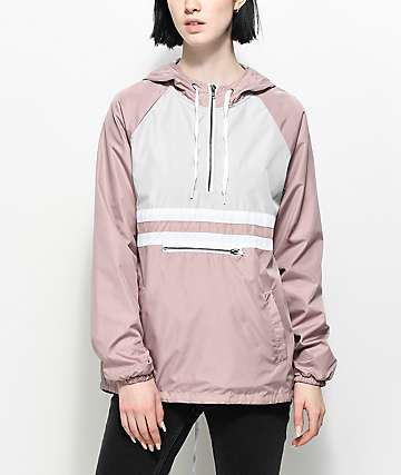 Zine Domino Mauve Pullover Windbreaker Jacket