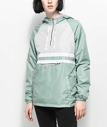 Zine Domino Sage Pullover Windbreaker Jacket