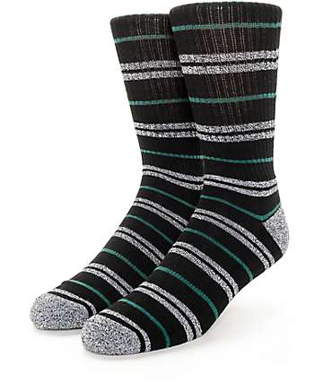 Zine Dood Black, Green & Grey Crew Socks
