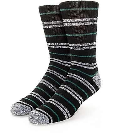 Zine Dood Black, Green & Grey Crew Socks