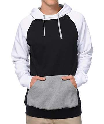 Zine Freshmix sudadera con capucha negra, gris y blanca