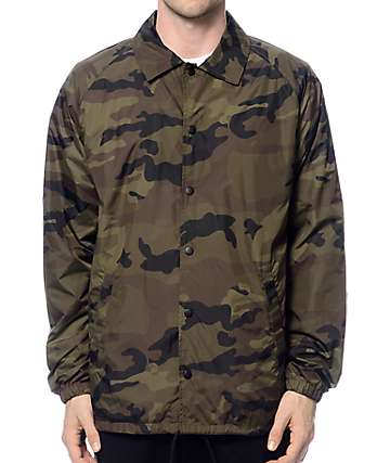 Zine Ghostwriter Camo Coach Jacket