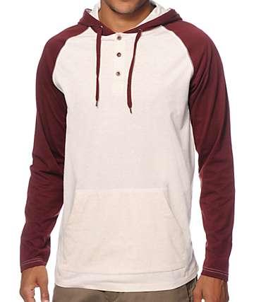 Zine Got It 2 Tone Hooded Henley Shirt