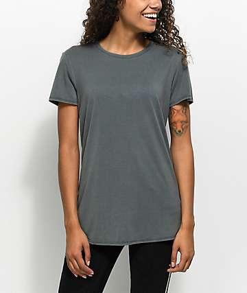 Zine Jaeda Dark Slate Oversized T-Shirt