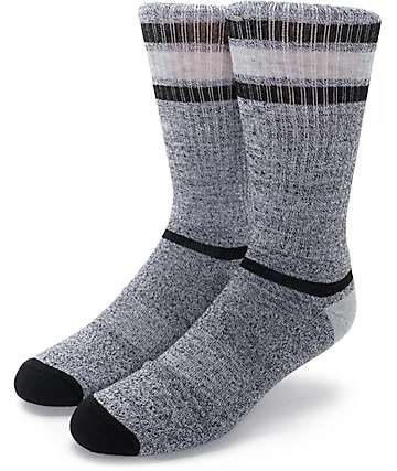 Zine Kick It Black, Grey & Charcoal Crew Socks