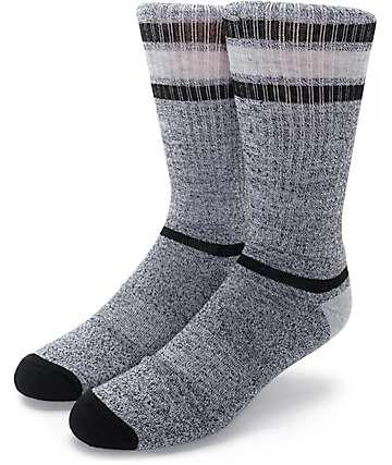 Zine Kick It Black, Grey & Charcoal Crew Socks