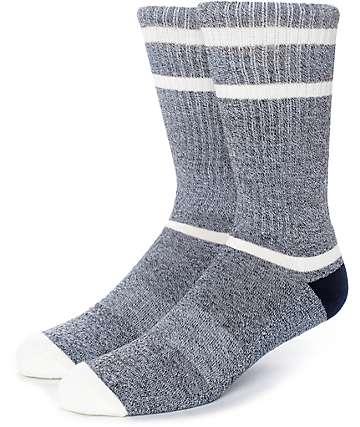 Zine Kick It Heather Grey & Navy Crew Socks