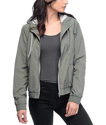 Zine Laya chaqueta en verde olivo