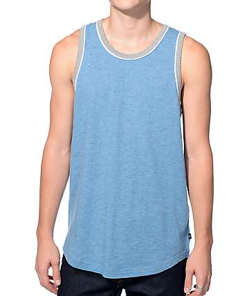 Zine Marathon Blue and Grey Tank Top