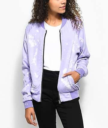 Zine Mariah Lavender Tie Dye Bomber Jacket