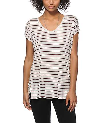 Zine Marla Blackberry Stripe Dolman Top