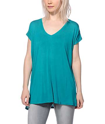 Zine Marla Teal V-Neck T-Shirt