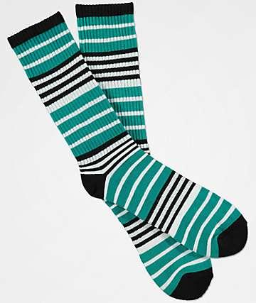 Zine Marlin Black, White & Peacock Crew Socks