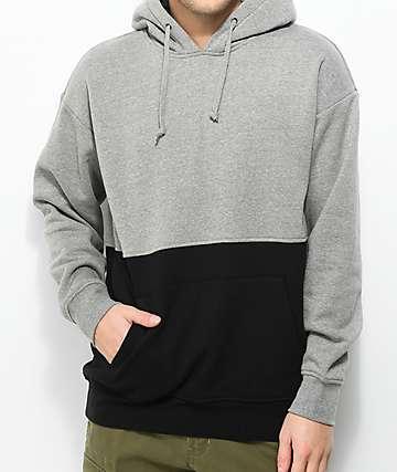 Zine Mass sudadera con capucha en gris y negro