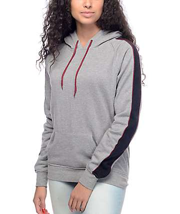 Zine Miranda Black & Red Stripe Pullover Hoodie