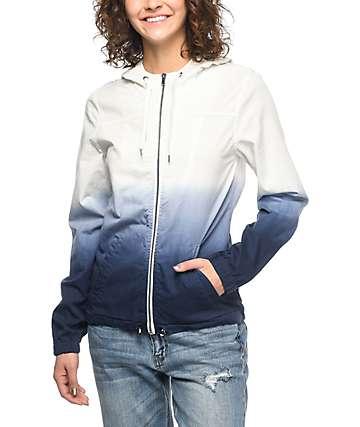Zine Nina chaqueta cortavientos en azul y blanco
