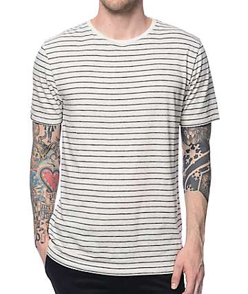 Zine North End Natural & Black Stripe T-Shirt