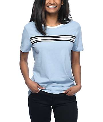 Zine Oren Ashley Blue Striped Ringer T-Shirt