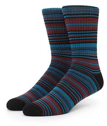 Zine Out O Sight Stripe Crew Socks