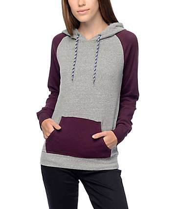 Zine Phoebe Blackberry & Grey Hoodie