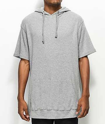 Zine Rally Grey Thermal Hooded Shirt