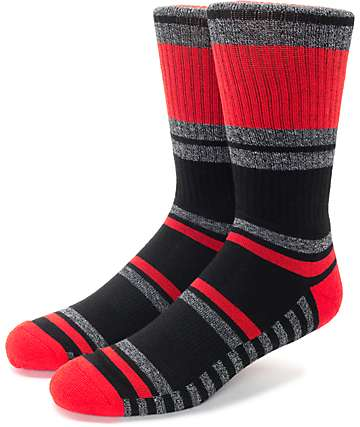 Zine Ranger Red & Black Crew Socks