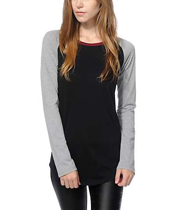 Zine Rayna Black & Grey Long Sleeve Shirt