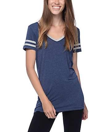 Zine Reid Blue V-Neck T-Shirt