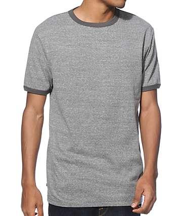 Zine Ringer Heather Grey T-Shirt