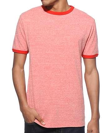Zine Ringer Heather Red T-Shirt