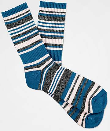 Zine Scoff Legion Blue & Lotus Pink Crew Socks