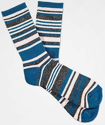 Zine Scoff Legion Blue & Lotus Pink Crew Socks