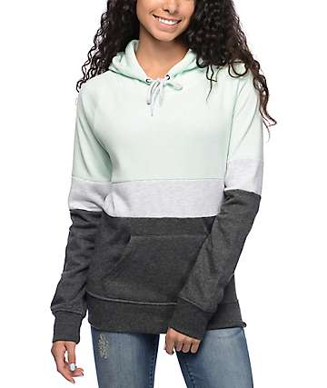 Zine Sheena Triple Block Light Blue Pullover Hoodie
