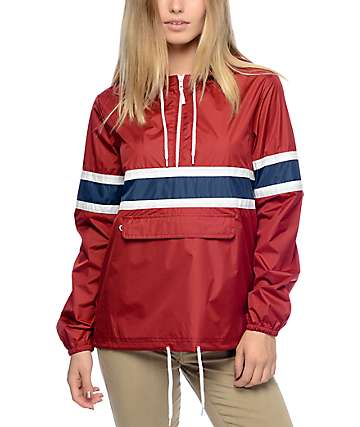 Zine Shiloh Red Pullover Packable Windbreaker