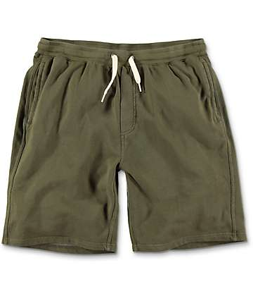 Zine Silas Olive Green Sweat Shorts