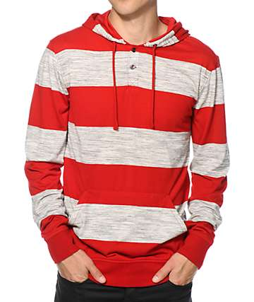 Zine Space Cadet Stripe Hooded Henley Shirt
