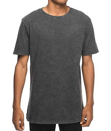 Zine Split Black Wash T-Shirt