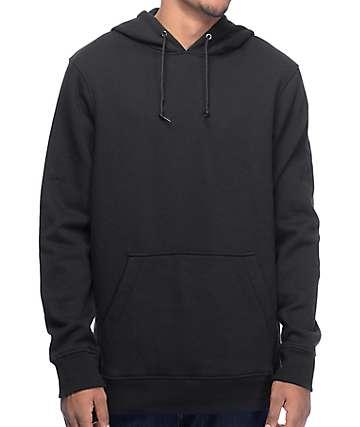 Zine Standard Black Fleece Pullover Hoodie